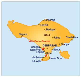 CocoGroove Seminyak Map